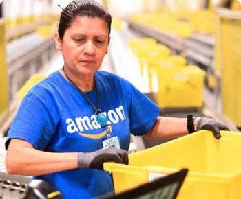 Amazon evde kalan çalışanlar nedeniyle zorda